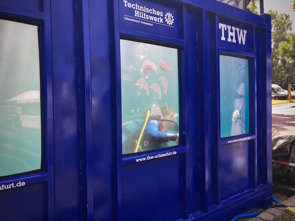 Landesturnfest Schweinfurt Dive Center Tauchcontainer