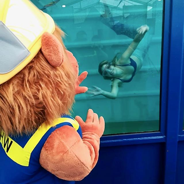 Wasserportschule Kozlowski Ufra Schweinfurt Meerjungfrau Mermaid Tauchcontainer