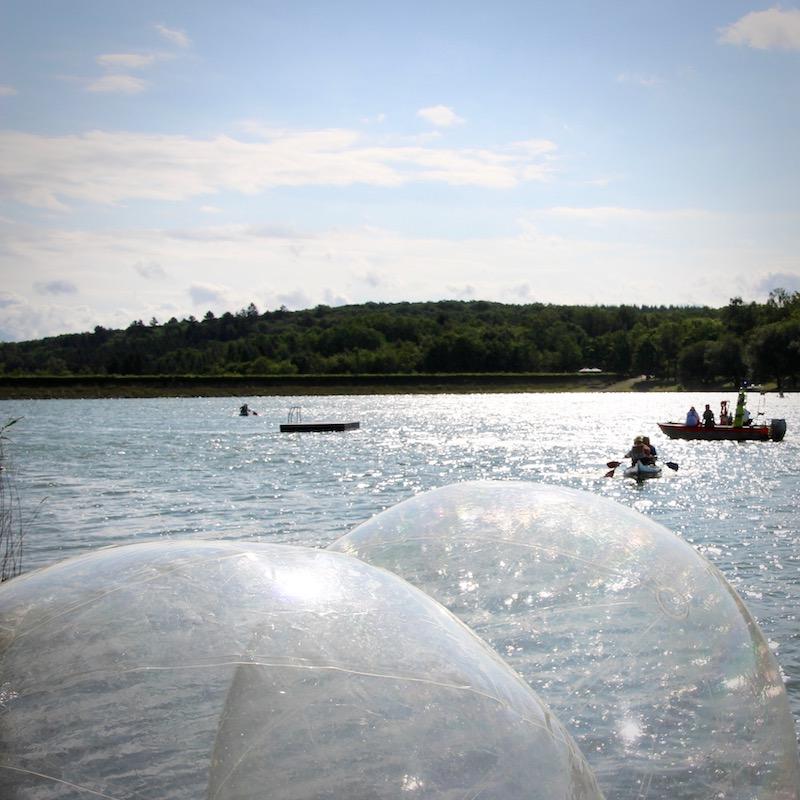 Aqua Zorbing Baelle Ellertshaeuser See Wassersportschule Kozlowski