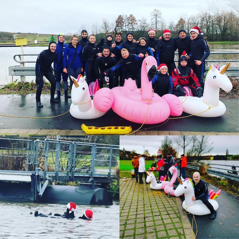 Gruppenbild Eisschwimmen Wipfeld Wassersportschule Kozlowski 2019