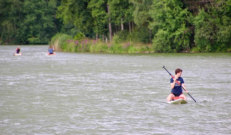 SUP Kurs der Wassersportschule am Ellertshäuser See