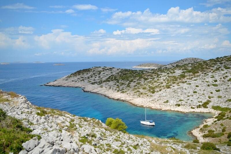 Landschaft Kroatien Bucht