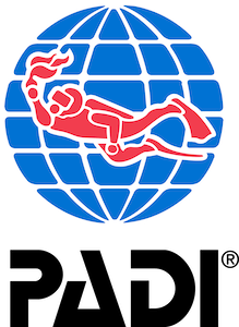 Logo PADI (Professional Association of Diving Instructors)