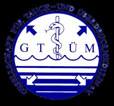 Logo GTÜM (Gesellschaft für Tauch- und Überdruckmedizin)