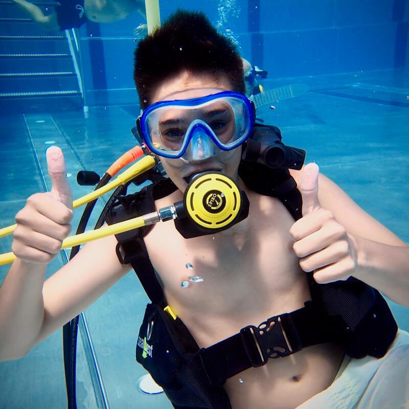 Kids Tauchen Schwimmbad Wassersportschule Kozlowski