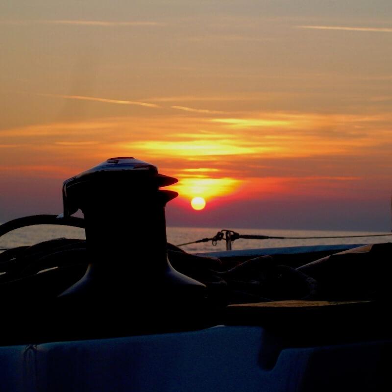 Segeltörn Sonnenuntergang Wassersportschule Kozlowski