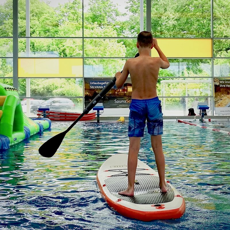 Stand Up Paddle Board Kids Schwimmbad