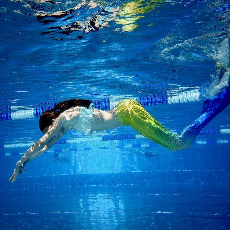 Mermaid schwimmend