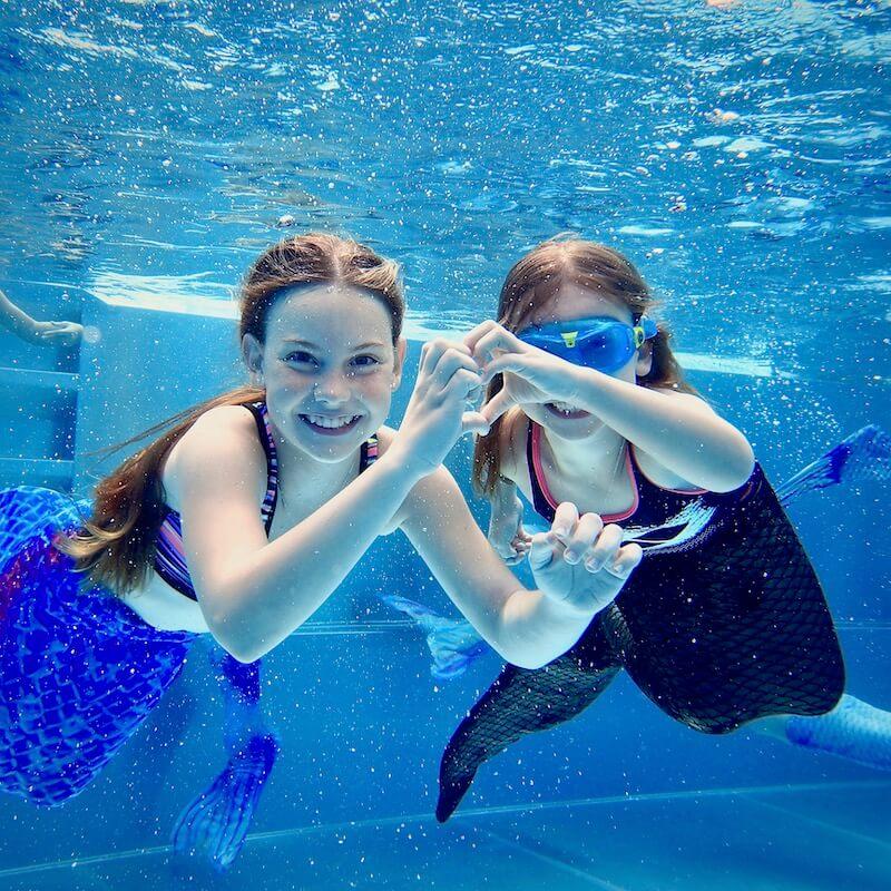 Mermaid Meerjungfrau Schwimmbad